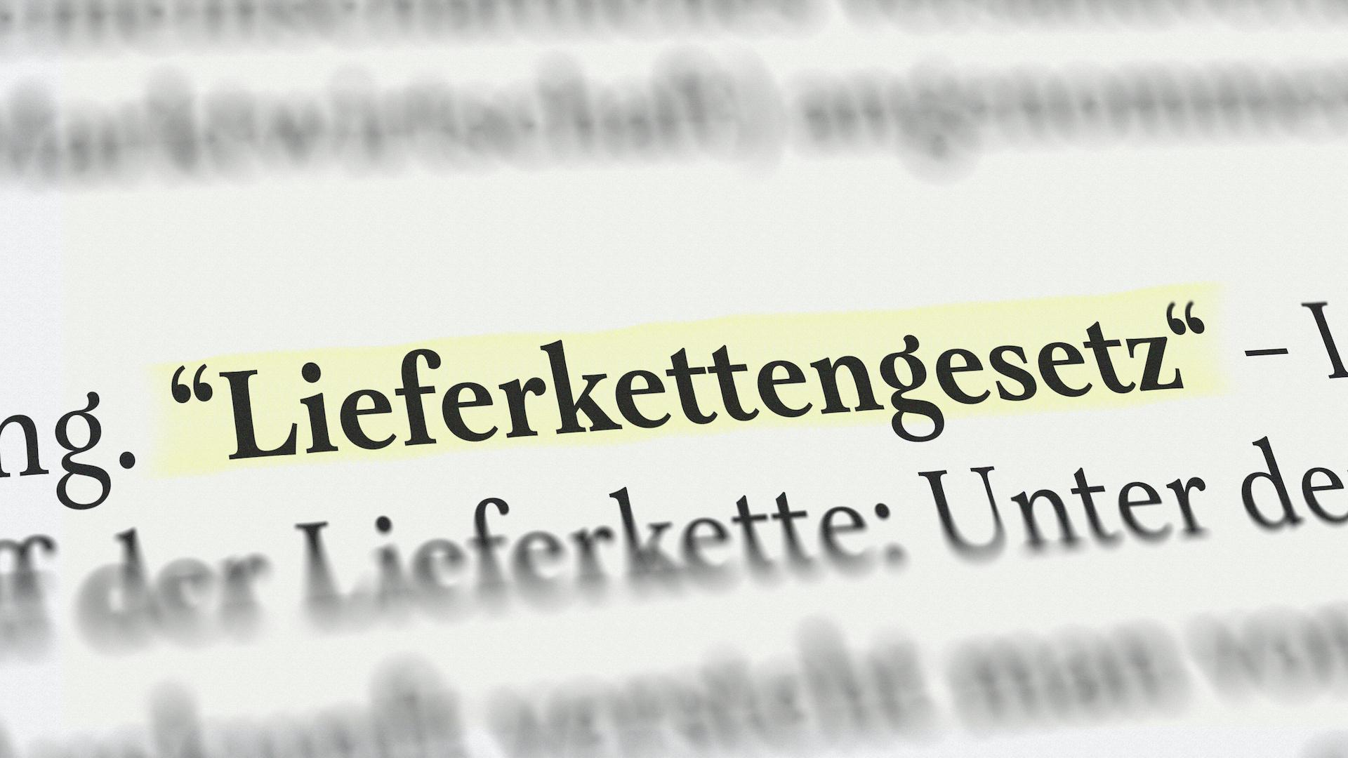 Lieferkettengesetz in Deutschland